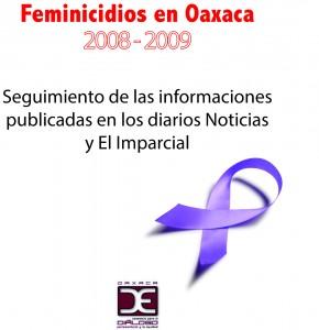 Portada Feminicidio Oaxaca Prensa