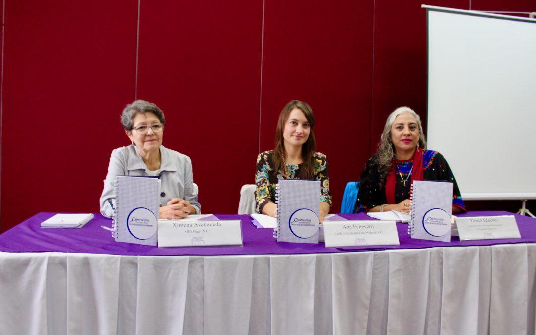 Instalan Observatorio Ciudadano del Centro de Justicia para las mujeres en Oaxaca