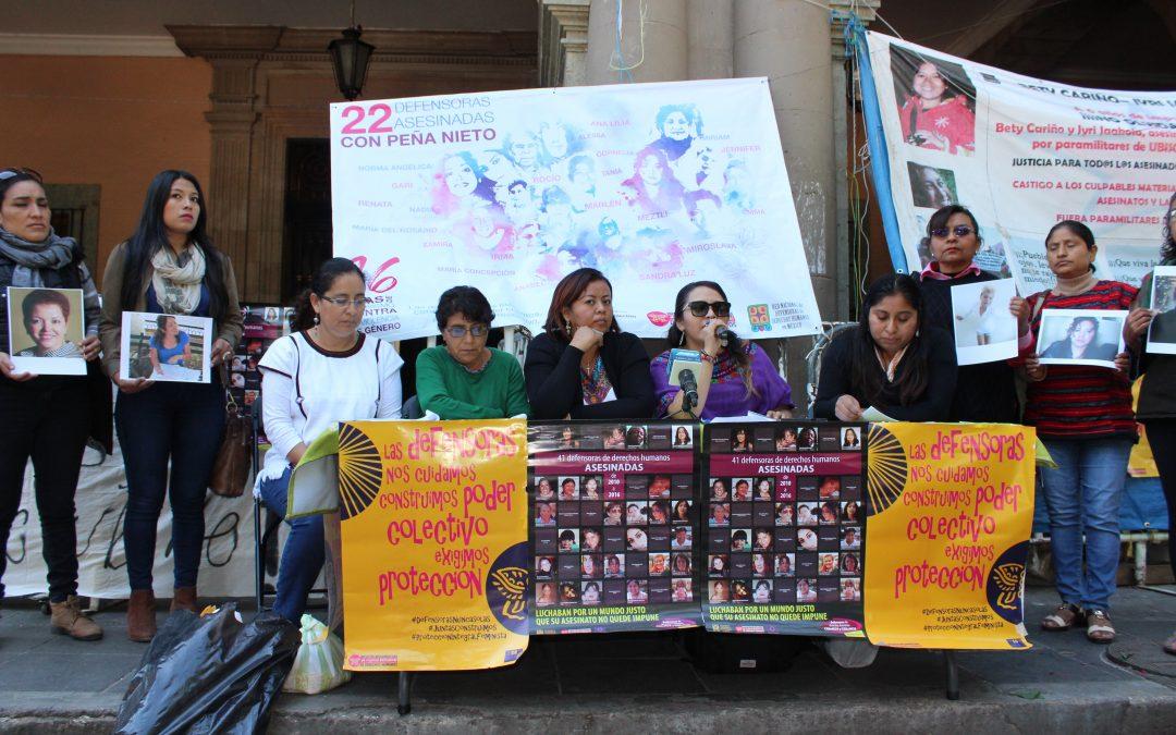 En México, una agresión diaria contra mujeres defensoras. Oaxaca primer lugar de agresiones a nivel nacional