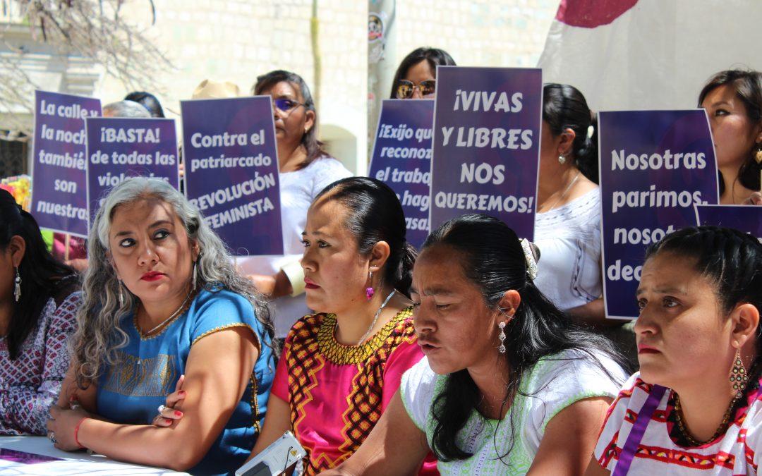 CONVOCAN MUJERES Y ORGANIZACIONES DIVERSAS DE OAXACA A LA HUELGA FEMINISTA 8M