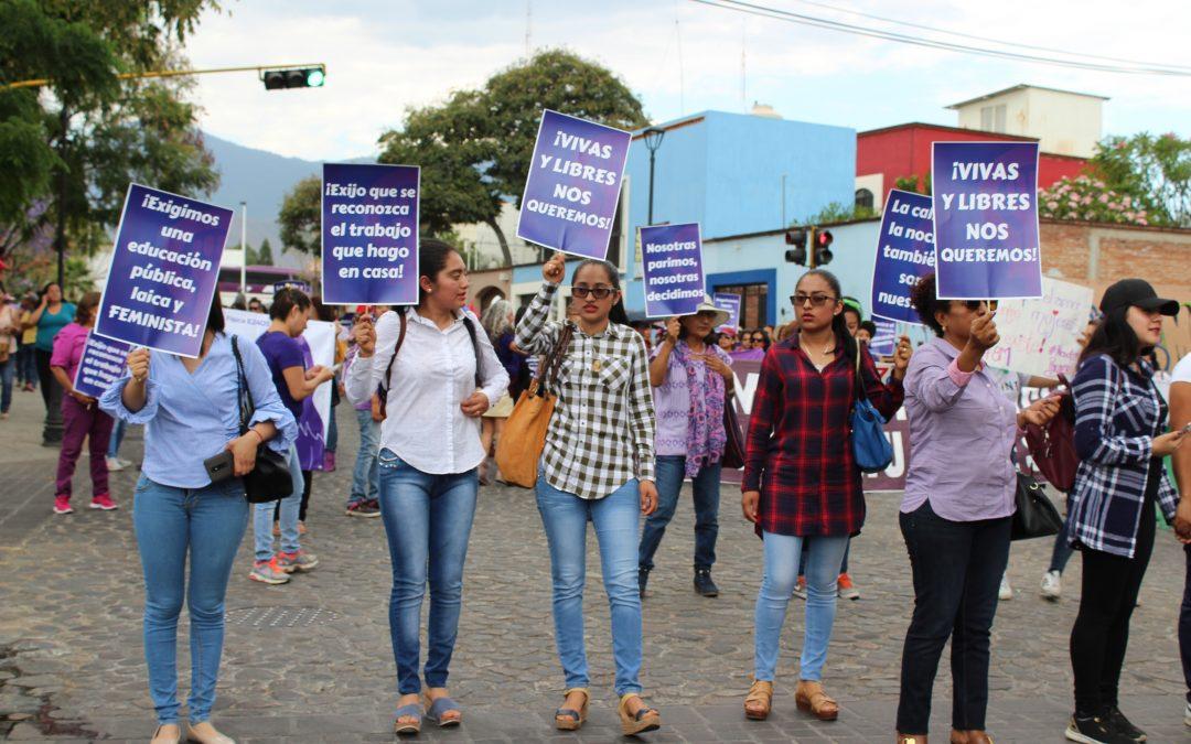 8M: Mujeres oaxaqueñas refrendan la lucha por sus derechos