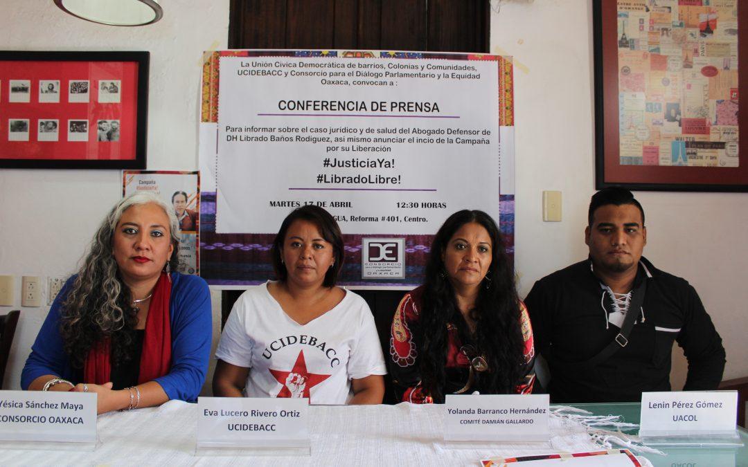 Anunciamos campaña internacional para la liberación del defensor Librado Baños