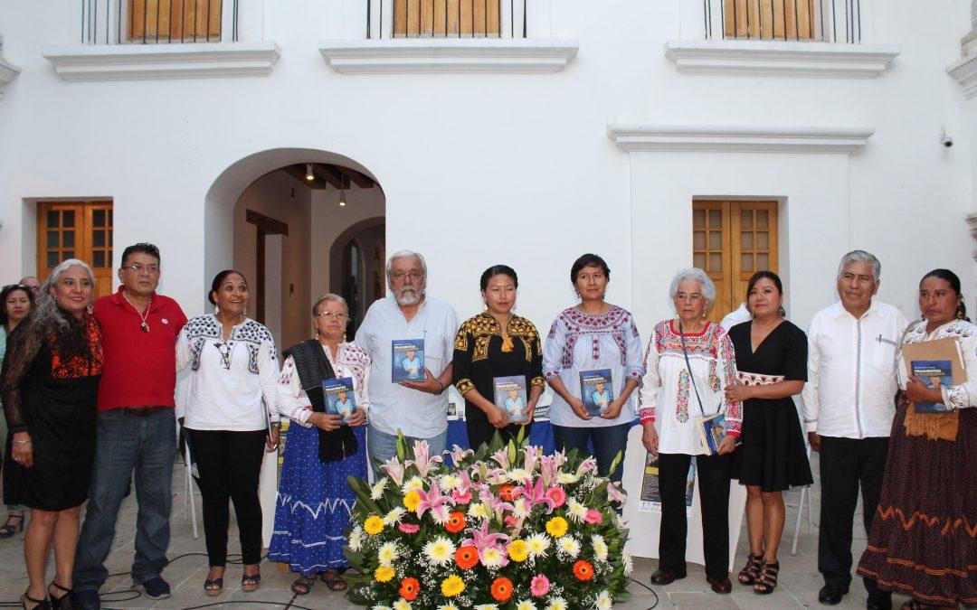 """Se presenta el libro """"Fragmentos de un espejo oculto""""  del defensor Damián Gallardo Martínez en Oaxaca"""