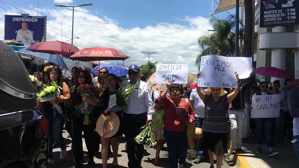 CONSORCIO OAXACA y el OCNF  EXIGEN AL GOBIERNO DE MURAT NO SIMULAR EN EL CASO DEL FEMINICIDIO DE MARÍA DEL SOL CRUZ JARQUÍN
