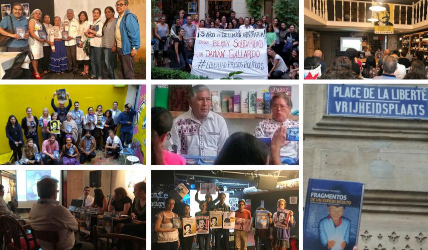 Sociedad civil de 9 ciudades de Europa y México urgen a la liberación inmediata del defensor de DH Damián Gallardo