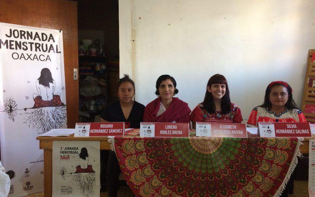 Por segundo año consecutivo se realiza jornada menstrual en Oaxaca