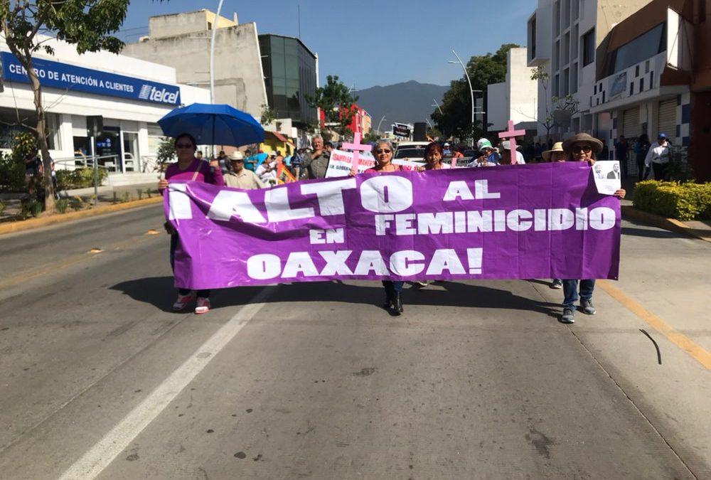 Oaxaca enfrenta incapacidad gubernamental para poner fin a la violencia contra las mujeres