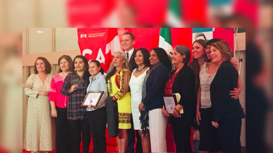 Embajada de Canadá premia la labor de la  Red Nacional de Defensoras