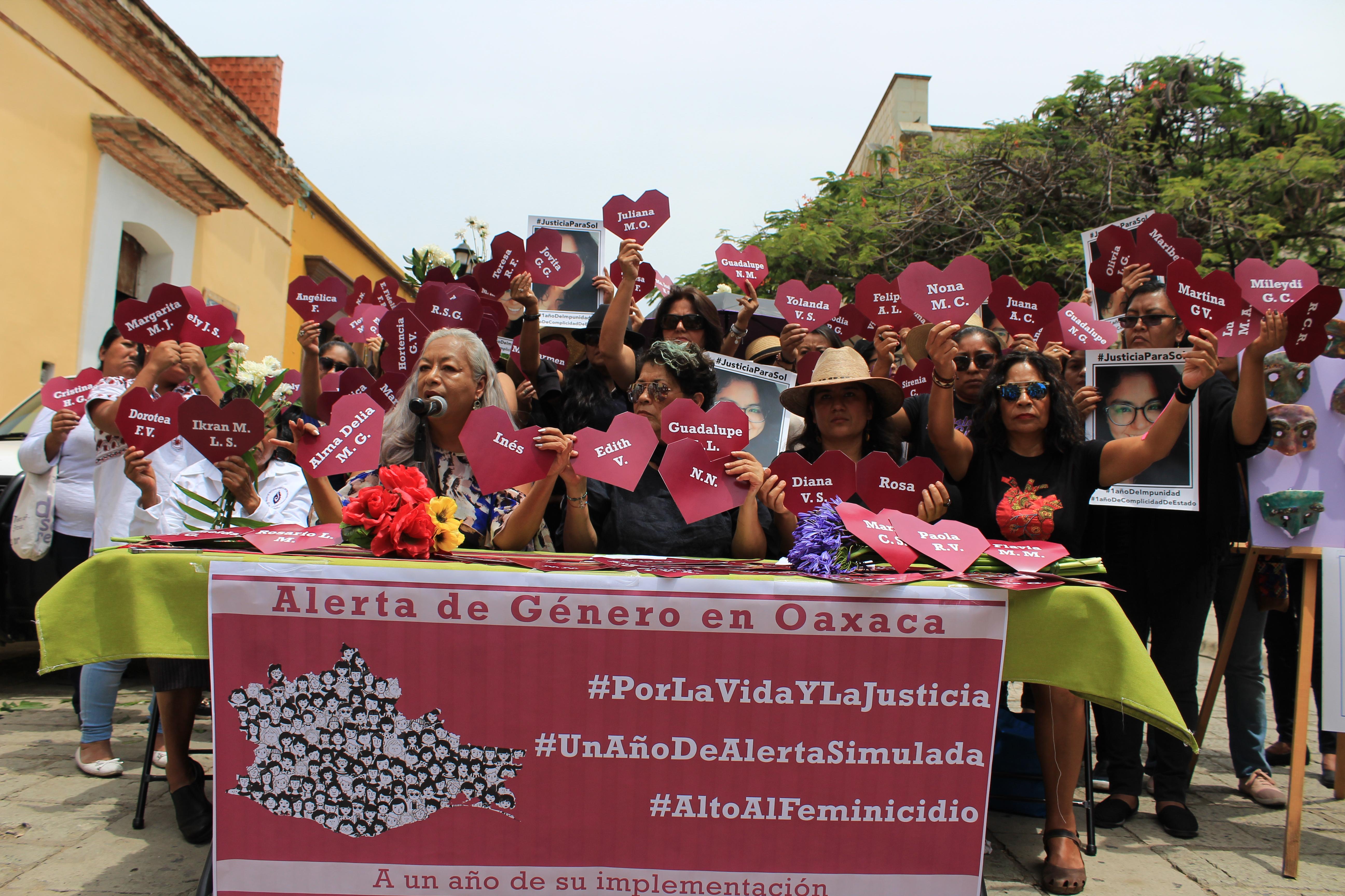 Pronunciamiento de las mujeres de Oaxaca