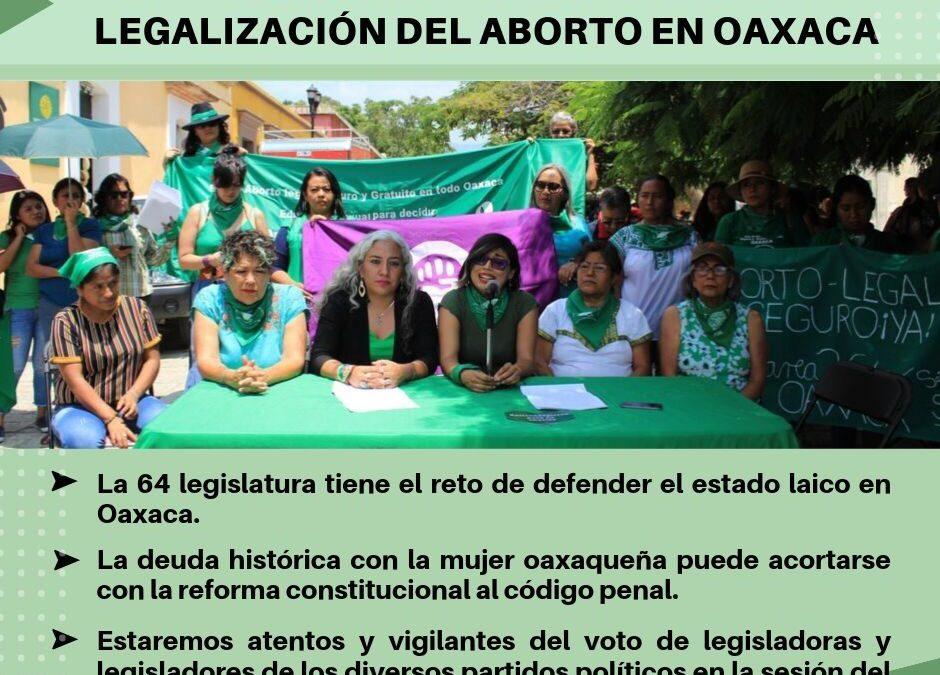 Pronunciamiento ante la Legalización del Aborto en Oaxaca