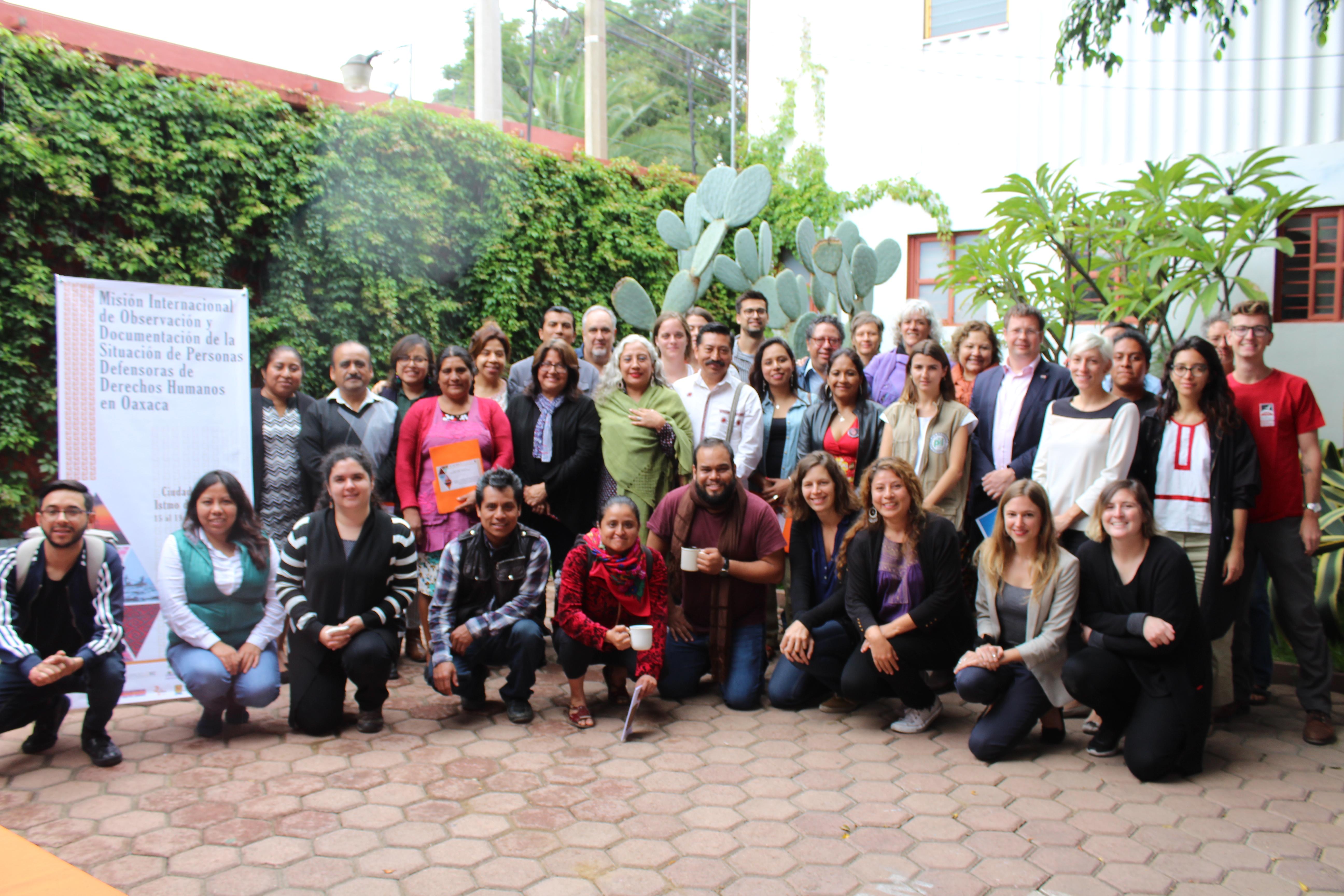Inicia misión internacional de observación y documentación de la situación de personas defensoras de derechos humanos en Oaxaca