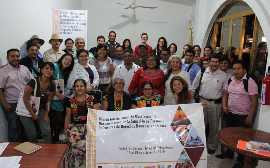 Concluyó el segundo día de la Misión de Observación en el Istmo de Tehuantepec