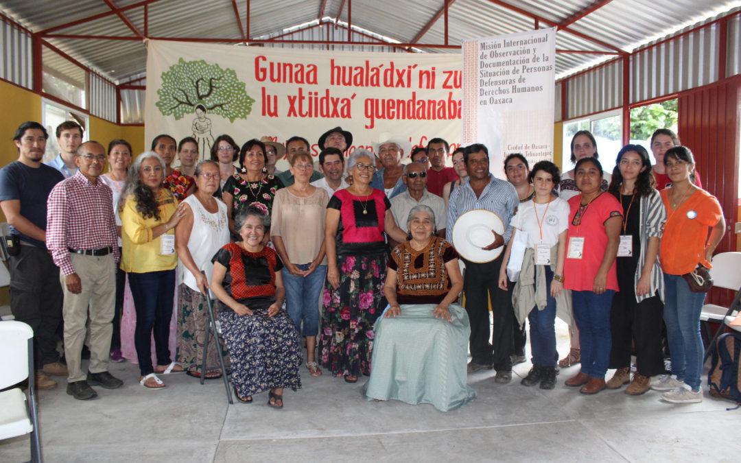 Concluye tercer día de la Misión Internacional en el Istmo de Tehuantepec