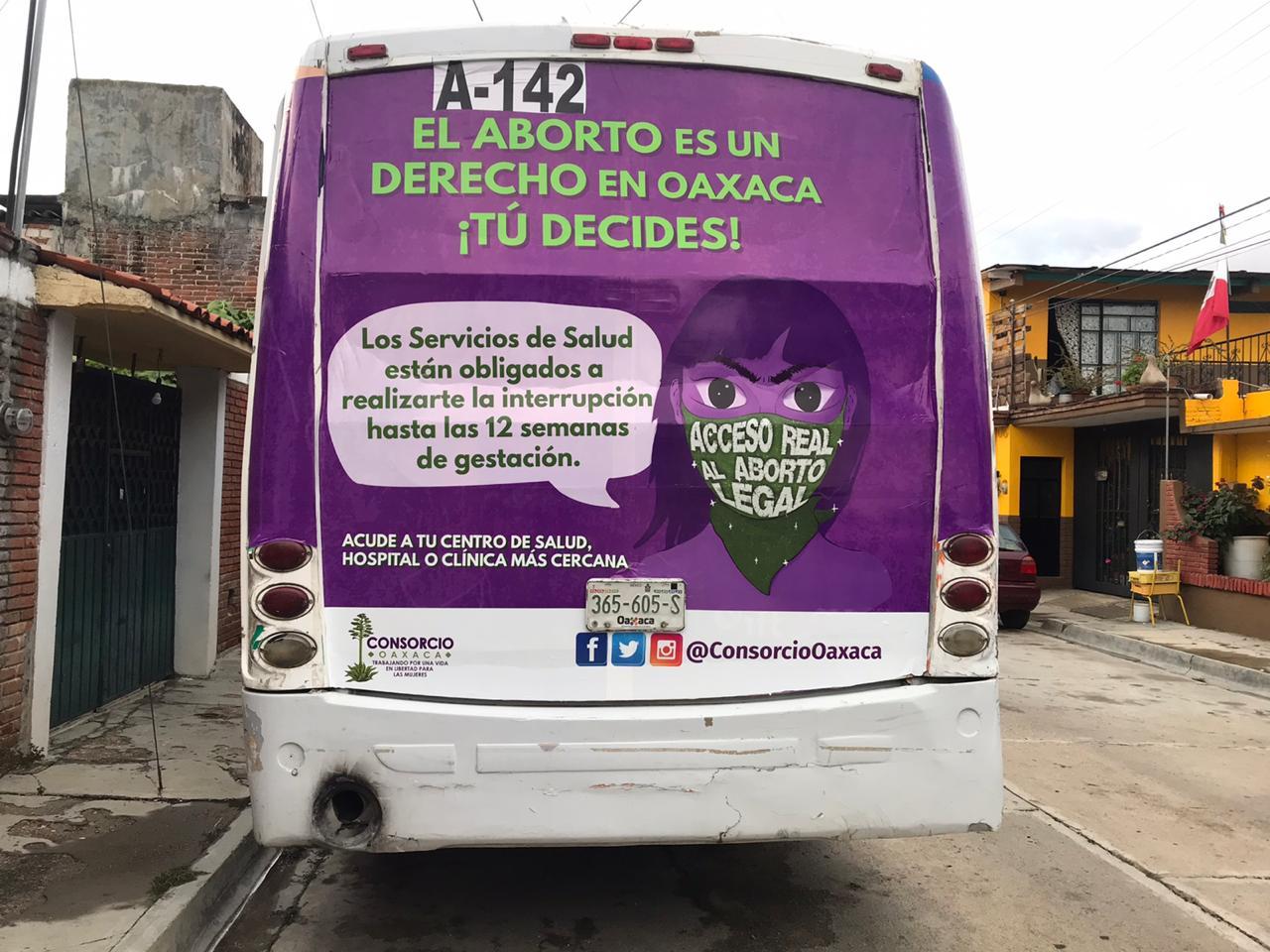Consorcio Oaxaca continúa campaña por el acceso real al aborto legal