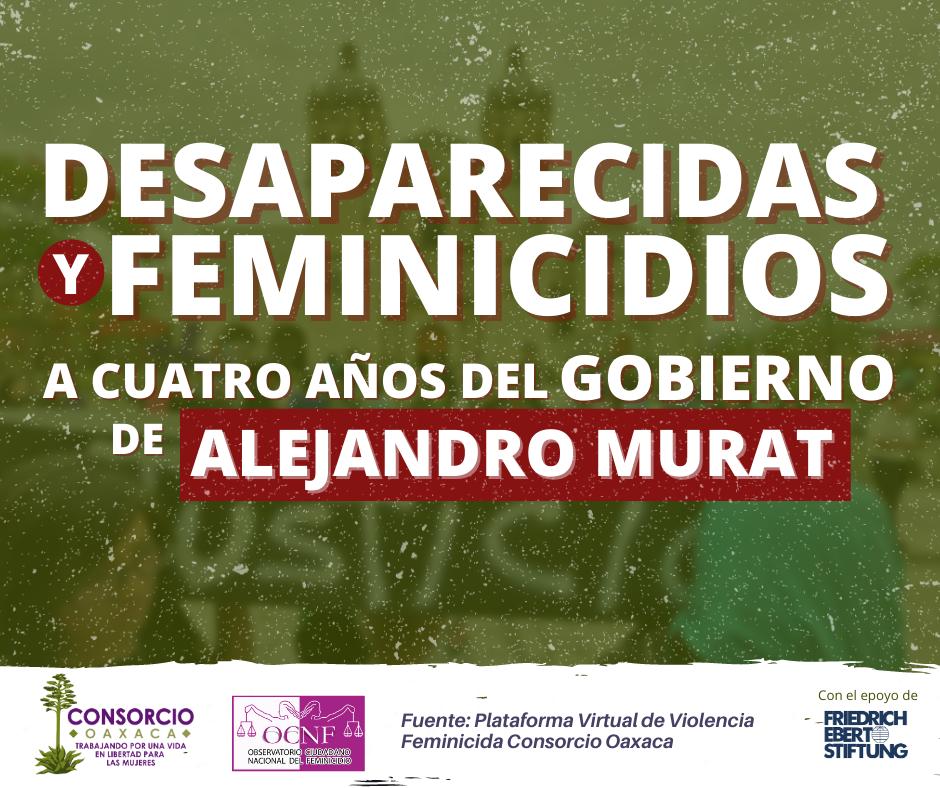 Feminicidios y mujeres desaparecidas a 4 años del gobierno de Murat