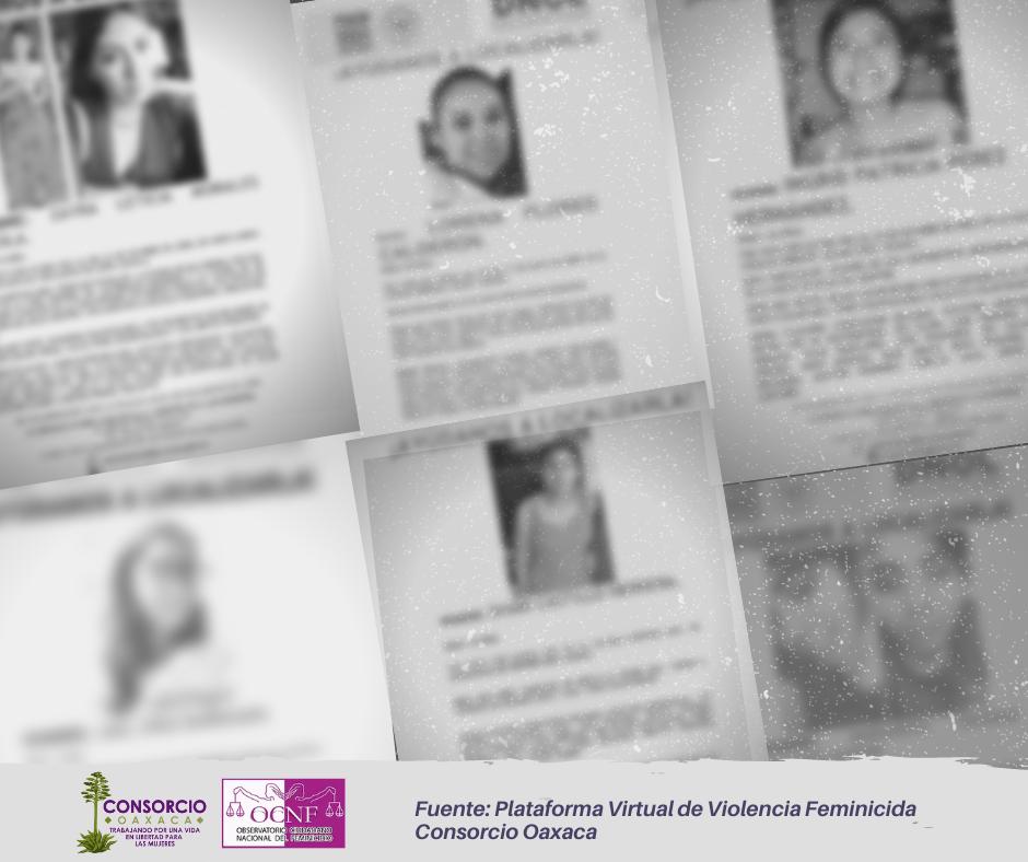 Mujeres desaparecidas en municipios de Oaxaca