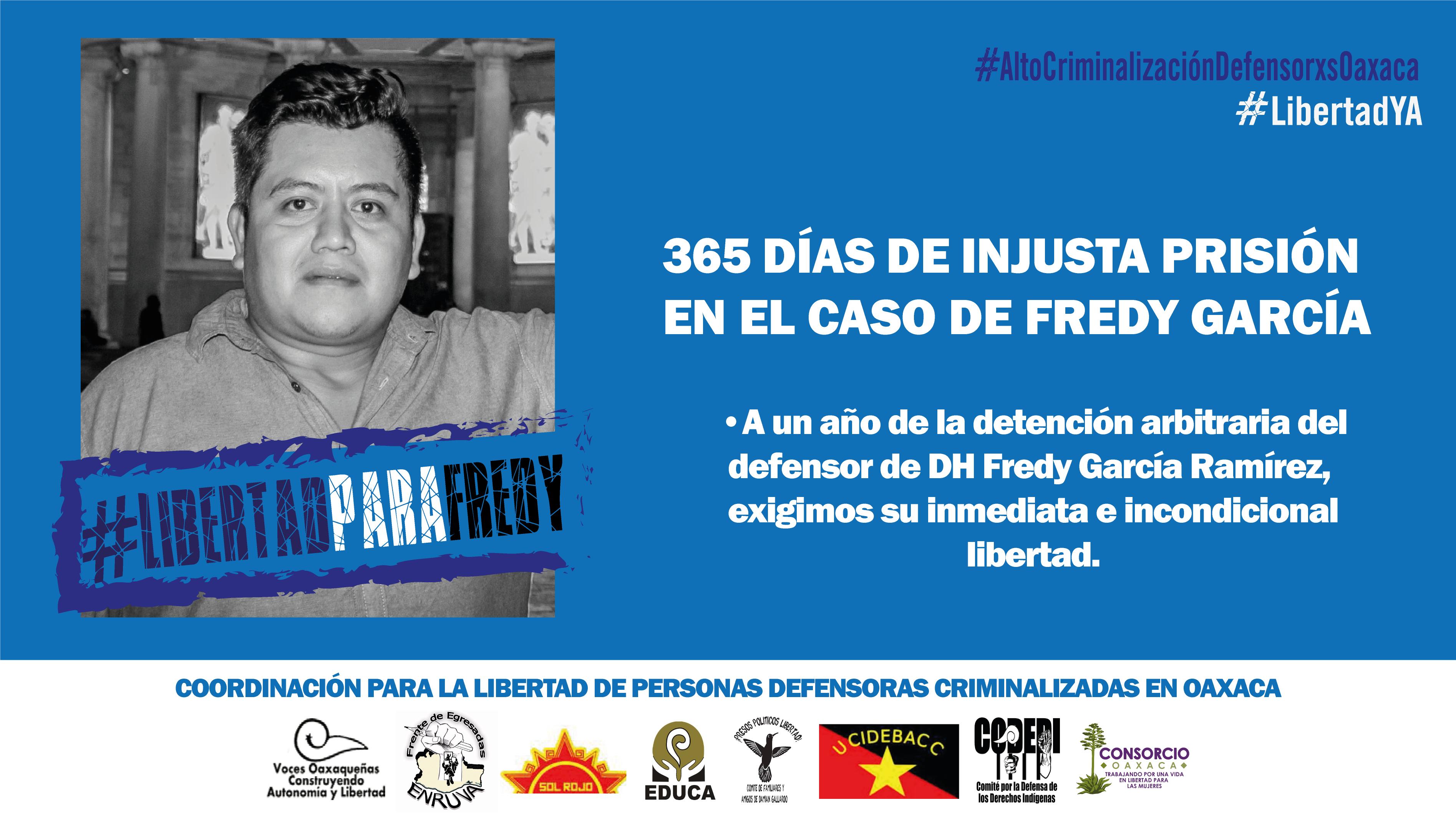 365 días de injusta prisión en el caso de Fredy García