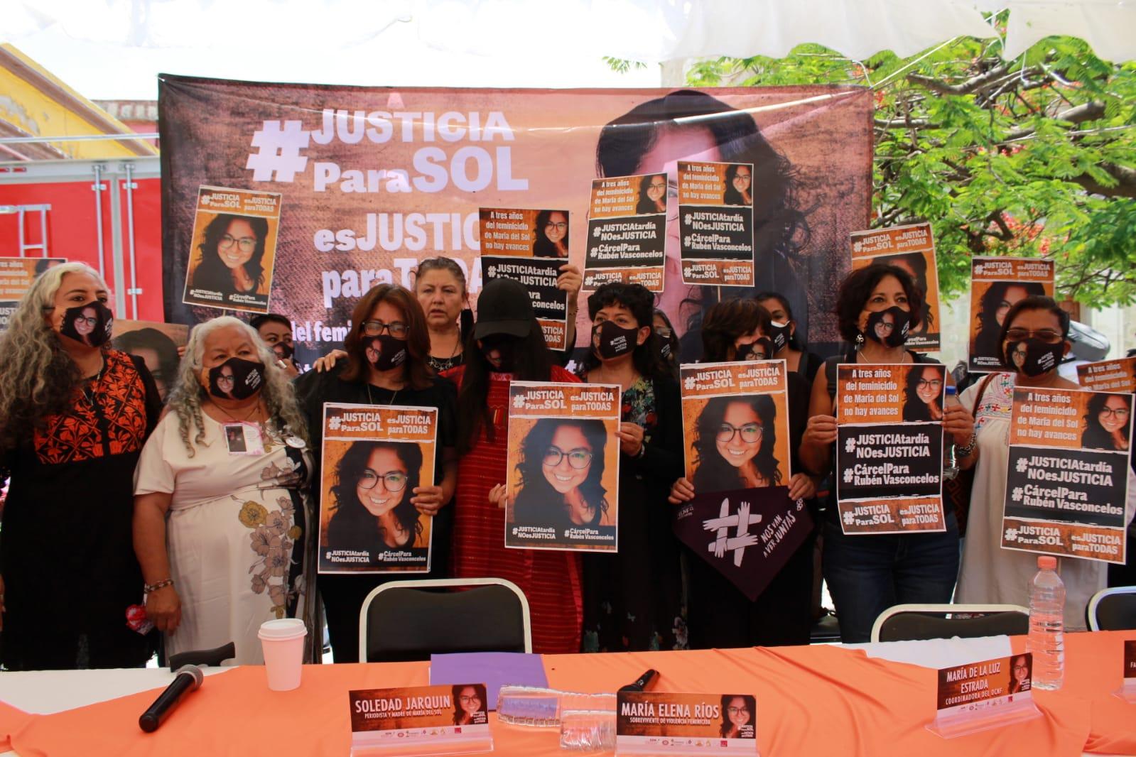 Tres años de impunidad en el caso de María del Sol Cruz Jarquín