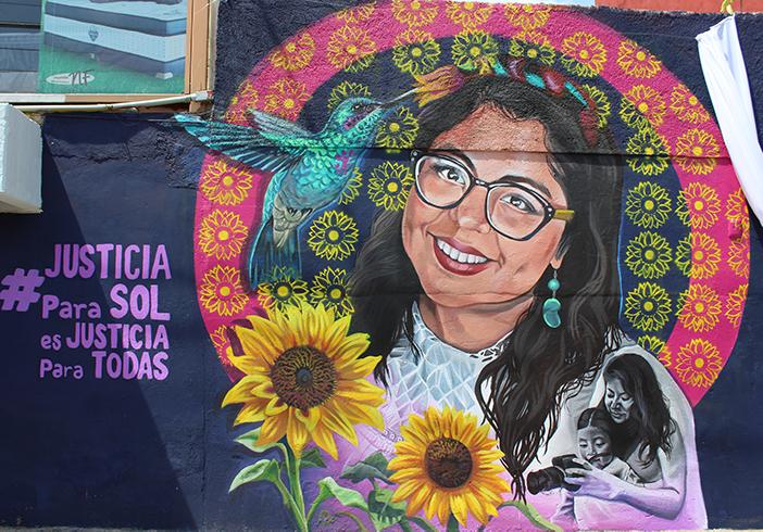 Develan mural en honor a María del Sol Cruz Jarquín