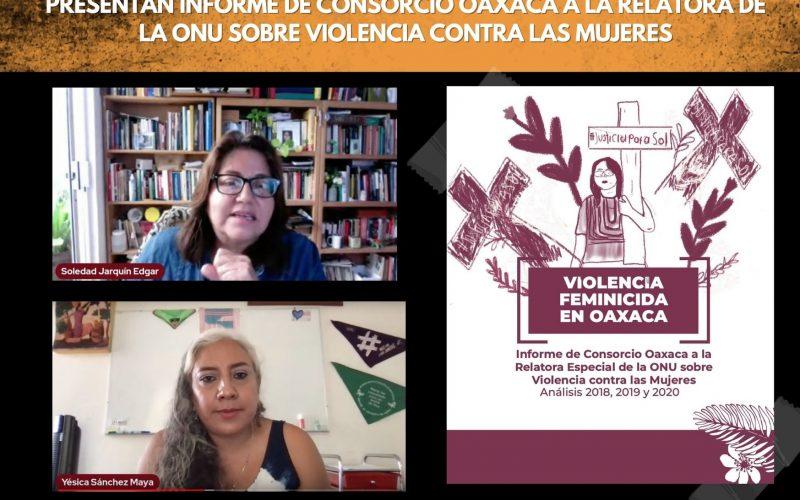 Presentan informe de Consorcio Oaxaca a la Relatora de la ONU sobre violencia contra las mujeres