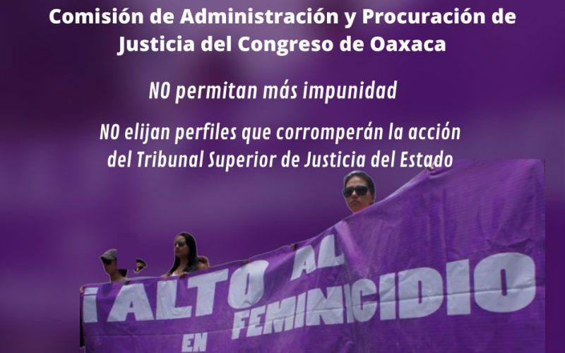 Elección de  magistraturas del TSJEO no debe contribuir a la impunidad