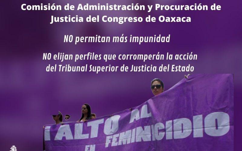 Consorcio Oaxaca a favor de una elección digna de los integrantes del Tribunal de Superior de Justicia